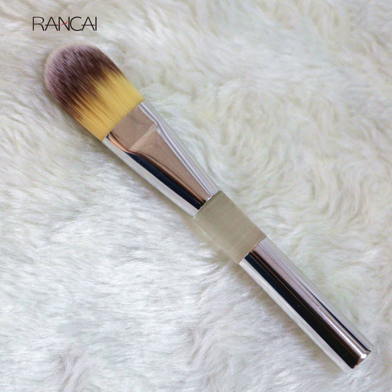 RANCAI 10pcs Foundation Brush Silver Blusher Eyeshadow Concealer BB Cream Powder Face Makeup Brushes Cosmetic Beauty Kits 7 pcs cosmetic face cream powder eyeshadow eyeliner makeup brushes set powder blusher foundation cosmetic tool drop shipping