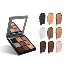 цена New 5 Style 9 Color Studio Matte Makeup Eyeshadow Smoky EyeShadow Pallete with mirror maquiagem profissional completa Cosmetics в интернет-магазинах