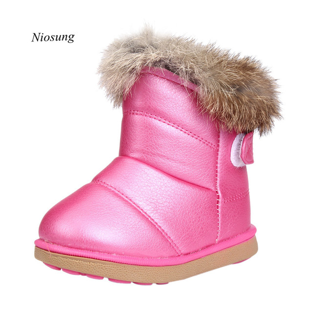 High Quality Winter Baby Boys Girls Child Leather Shoes Martin Boot Warm Shoes Anti-slip Bebe Shoes  1~6Y