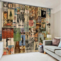 Famous Magazine Covers for Home Textile Luxury Window Curtain 3D Sunshade Curtain Customize Size