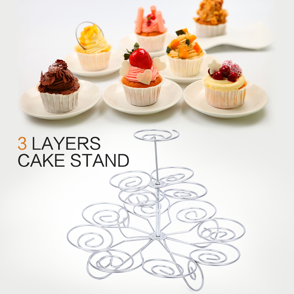2016 New Detachable 3 Tier 13 Cupcake Stand Party Decoration Dessert Holder Wedding Decorating