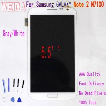 WEIDA 5.5 ''Dành Cho Samsung GALAXY Note 2 N7100 Màn Hình Cảm Ứng LCD Bộ Số Hóa công cụ miễn phí