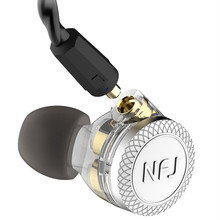 NFJ N300 PRO 3 Driver Unit In Ear Earphone With Microphone Sports HIFI Monitor Earbuds Detachable Detach MMCX Cable Headsets tin audio t2 pro 2dd dynamic hifi earphone with detachable mmcx cable in ear earphone
