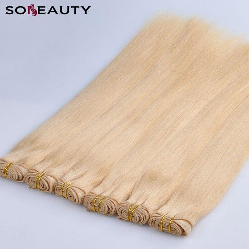Cheveux armure paquets 3 pièces brésilien cheveux raides trame cheveux raides paquets Remy Extensions de cheveux humains brésilien