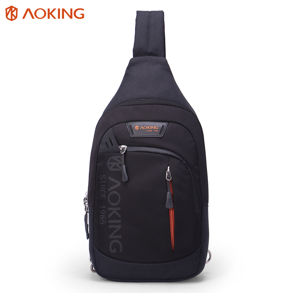 Aoking New Leisure Casual Men Chest Bag Pack Theftproof Daily Crossbody Bag Man Business Sling bag Large Capacity Messenger bag tinyat men functional multilayer bag cool casual chest bag pack morden outside large capacity messenger bag pack t509 black