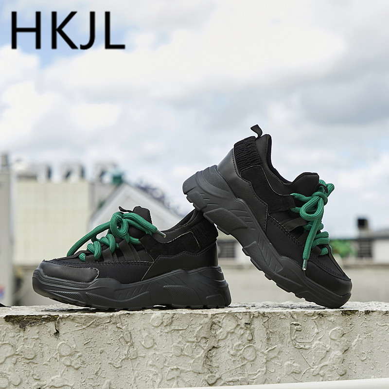 HKJL Shoe lady 2019 spring new sneaker shoe Korean version muffin bottom versatile student thick A612