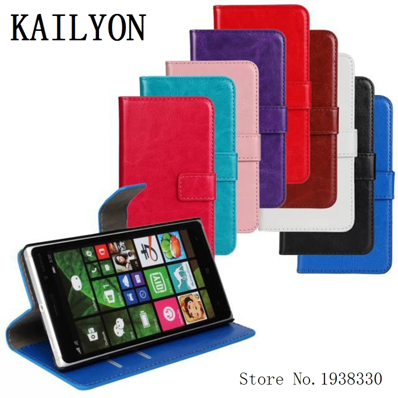 KAILYON For Nokia Lumia 830 Cover Retro Wallet Leather Flip Case For Nokia 830 Top Quality Phone Bags Cases With Credit Card Hol
