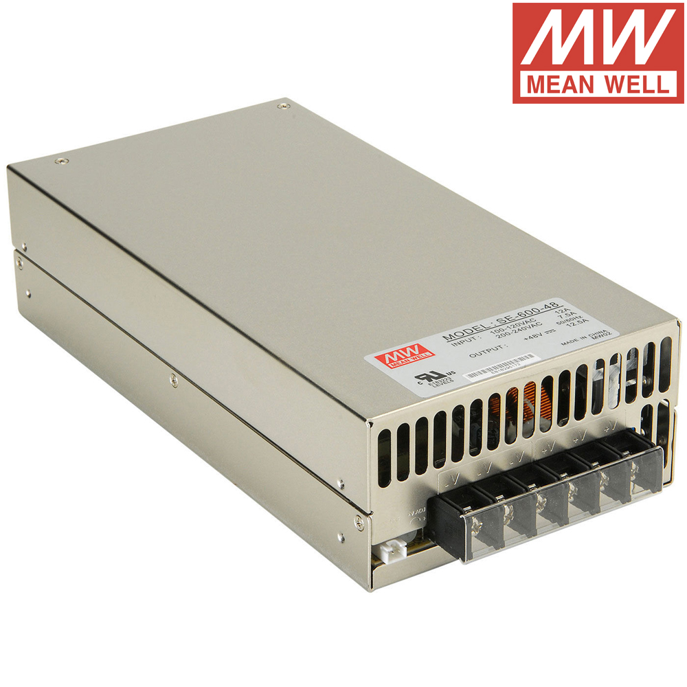 Meanwell SE-600 DC 12V to 48V input 600W Single Output Switching Power Supply meanwell 12v 350w ul certificated nes series switching power supply 85 264v ac to 12v dc