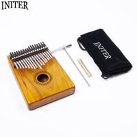 Initer 17 Keys Acacia Kalimba Thumb Piano 17 Notes With Free Carry Bag And Tuning Tool