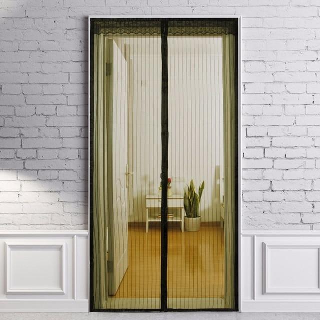 Hand Free Divider Screen Door Magnetic Curtain Puerta Panel Mesh With  Magnets Door Screen Net