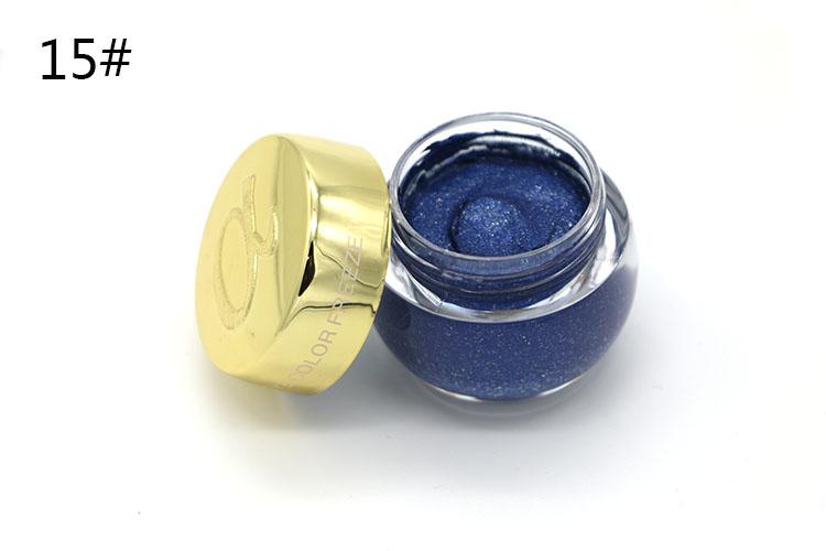 Love Alpha Single Color Eye Shadow Gel Eyes Makeup Glitter Nude Eyeshadow 16 Color EyeShadow Palette Shining Bright Brand Makeup