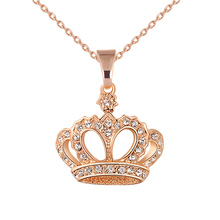 Newly Hot Sales 2019 Droppshiping Women Necklace Alloy Chain Choker Crystals Crown Pendant Necklaces Girl Jewelry Gift dg88