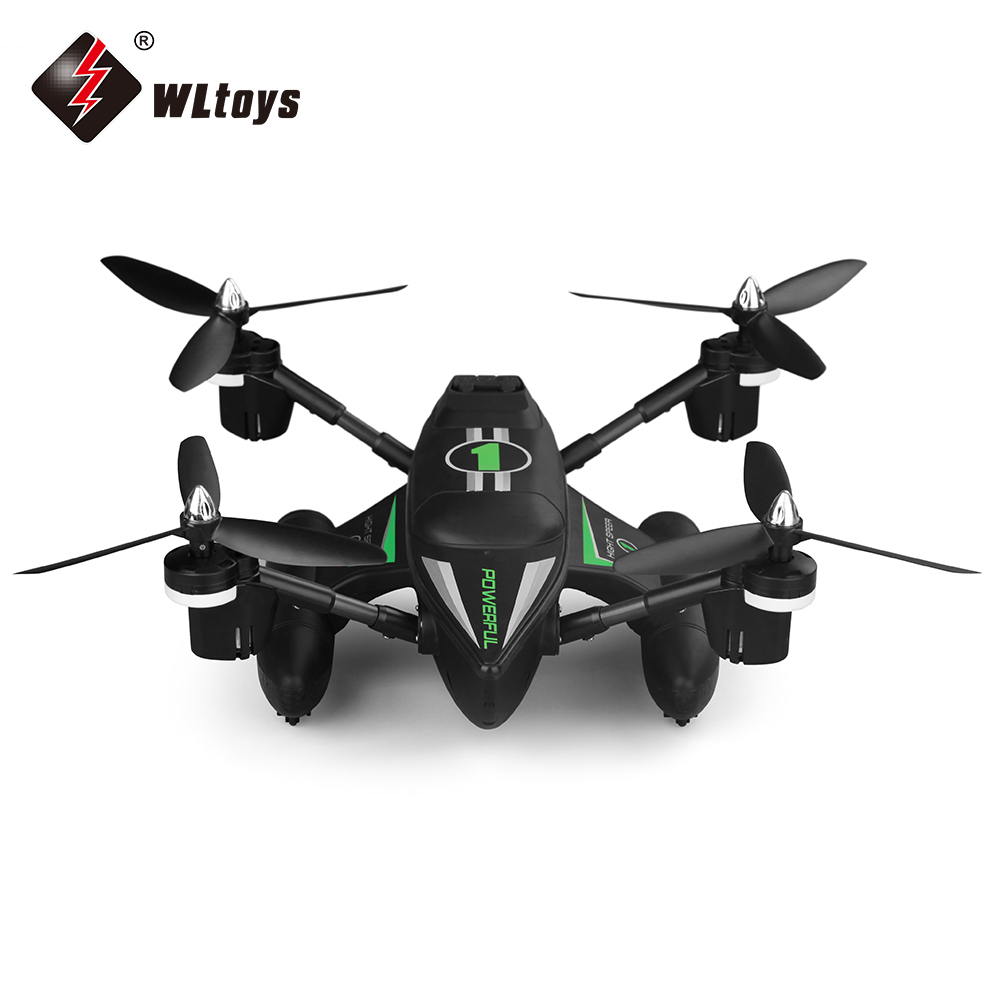 WLtoys Q353 RC Drone Dron RTF Air Land Sea Mode Headless Mode One Key Return Radio Control Drones Quadcopters Toys with Light wltoys q353 aeroamphibious rc drone air land sea mode 3 in 1 waterproof headless mode 2 4g led quadcopter headless mode toys rtf