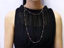 TN0045 925 серебряное ожерелье с коробкой