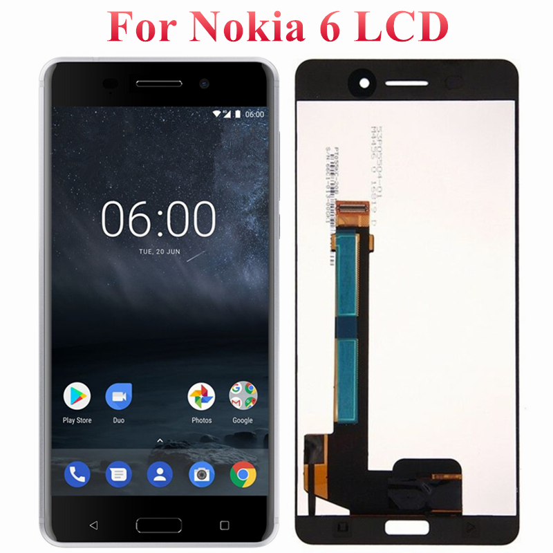Original 5.5 For Nokia 6 TA-1025 TA-1021 TA-1033 LCD Display Screen With Frame Digitizer Assembly For Nokia 6 LCD DisplayOriginal 5.5 For Nokia 6 TA-1025 TA-1021 TA-1033 LCD Display Screen With Frame Digitizer Assembly For Nokia 6 LCD Display
