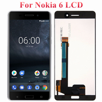 Original 5.5 For Nokia 6 TA 1025 TA 1021 TA 1033 LCD Display Screen With Frame Digitizer Assembly For Nokia 6 LCD Display