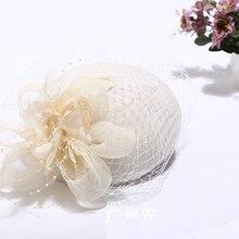 Модные женские свадебные шляпы, черные свадебные вечерние шляпы с цветком, подарки, вуаль для волос с расческой, жемчугом, бисером, Свадебные шляпы и вуалетки