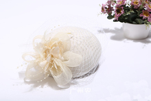 Fashion Women Wedding Hat Flower Black Bridal Party Gifts Veil Hair With Comb Pearl Beaded Hats and Fascinators