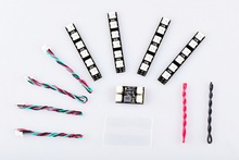 FPV Full color LED WS2812 LED board LED Light Module Control Module Set for RC FPV Racing Drone Multirotor spare parts hubsan h107d a04 tx 5 8ghz module camera module spare parts for h107d x4 fpv rc headless 1080p rtf quadcopter helicopter drone