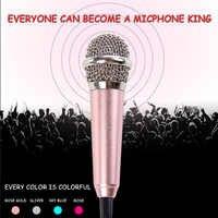 Marsnaska Phone Speaker Portable Mini 3.5mm Stereo Studio Speech Mic Audio Microphone For Phone/Smart Phone Desktop Accessories