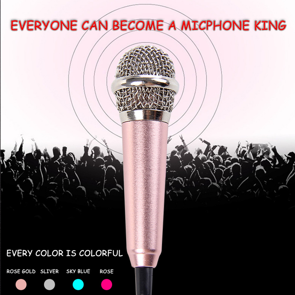 Marsnaska Phone Speaker Portable Mini 3.5mm Stereo Studio Speech Mic Audio Microphone For Phone/Smart Phone Desktop Accessories