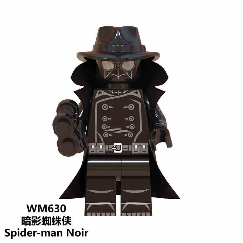 Горячие мягкие фигурки Супер Герои Человек-паук Noir Gwen Ham Человек-паук Prowler строительные блоки игрушки для детей jm48