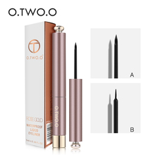 O.TWO.O Eyeliner 2 Brush Head Eyes Makeup Waterproof Black Liquid Eyeliner Pen MakeUp Beauty Eyeliner Pencil Cosmetic N9084 beauty cosmetic makeup eyeliner cream grease black 3g