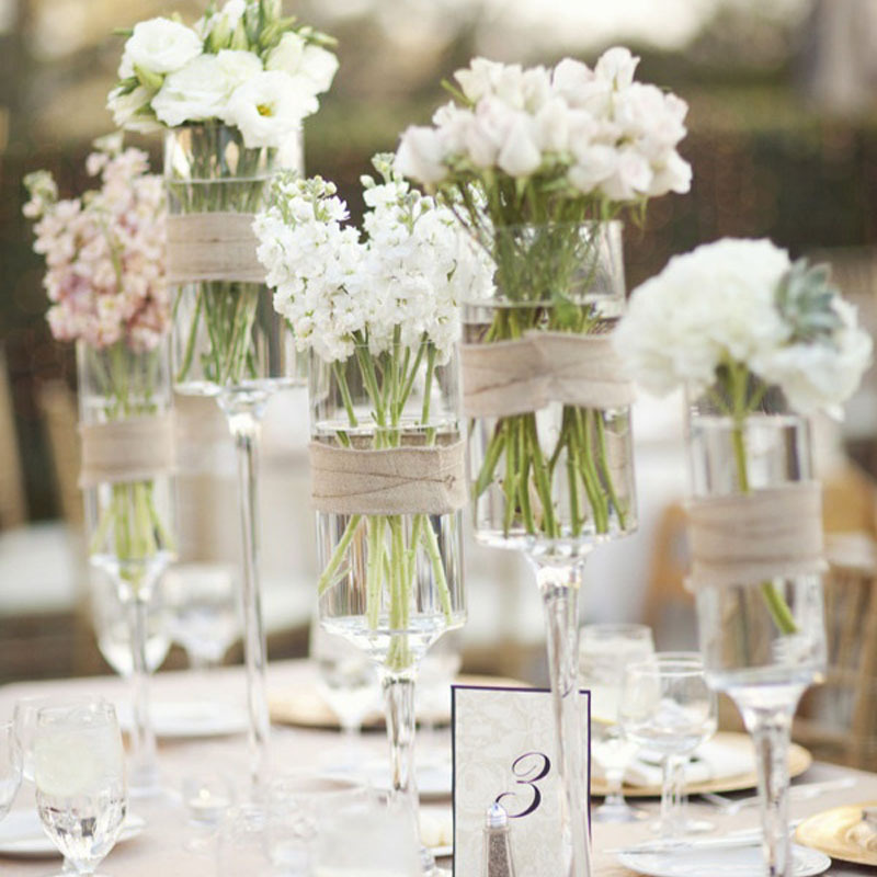 Glass Vase Centerpieces For Wedding Table Decoration Wedding Flower