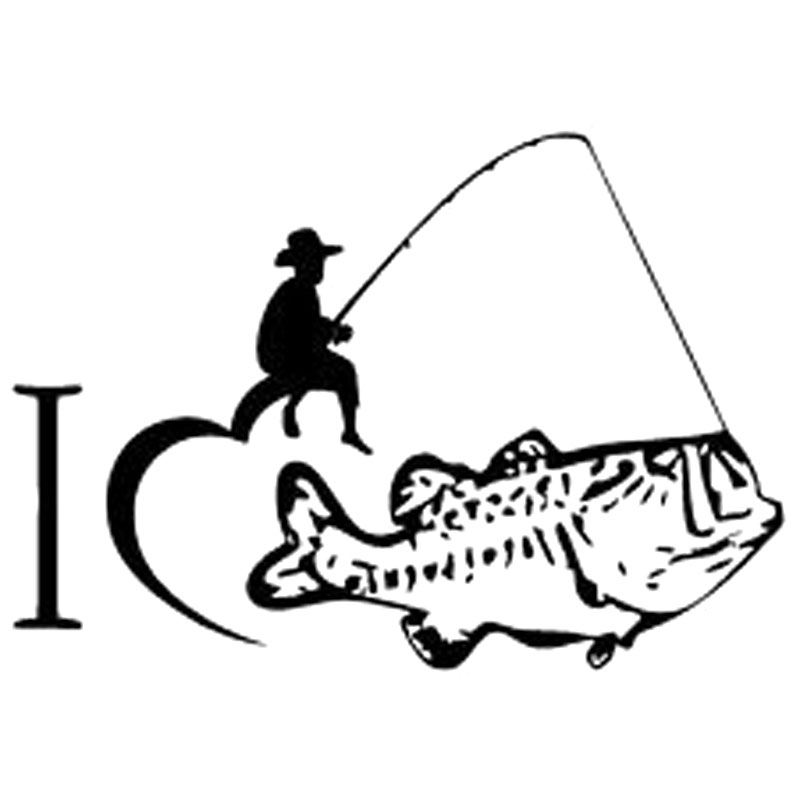 Download Aliexpress.com : Buy 15.8CM*10.9CM I Love Fishing Bass ...