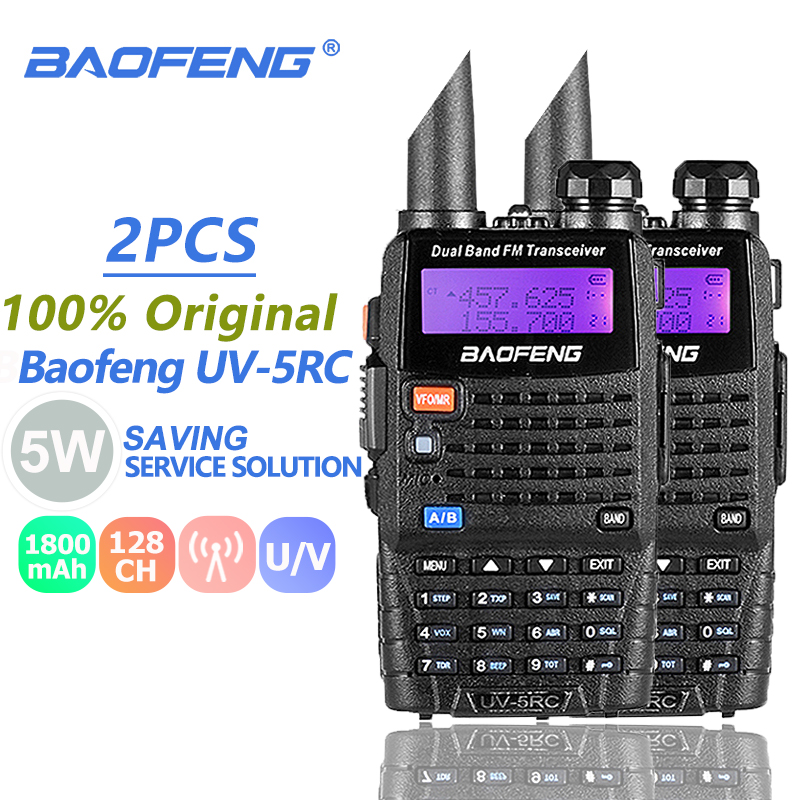 2pcs Baofeng UV-5RC Walkie Talkie Dual Band VHF UHF Hunting Radio CB Ham Radio Commmunicator Baofeng Uv-5r Plus Woki Toki 10 KM2pcs Baofeng UV-5RC Walkie Talkie Dual Band VHF UHF Hunting Radio CB Ham Radio Commmunicator Baofeng Uv-5r Plus Woki Toki 10 KM