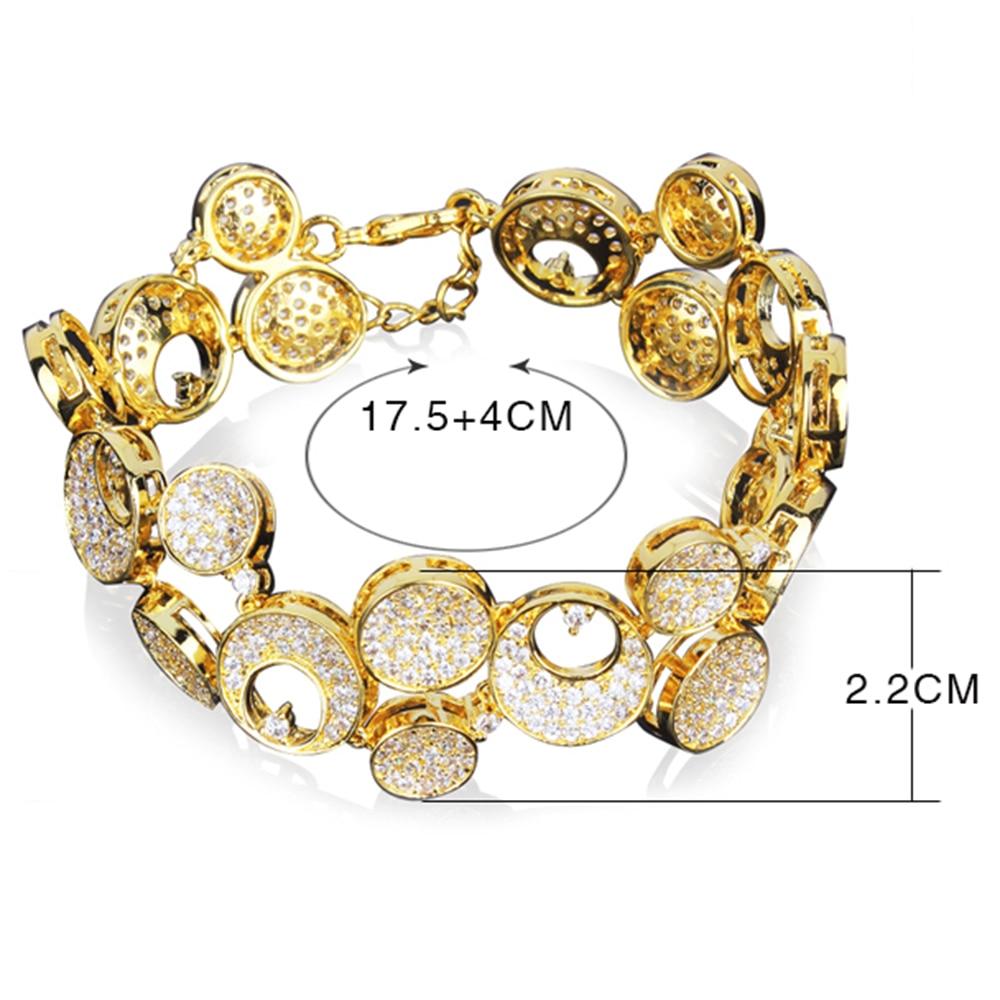 17.5 cm + 4 cm chaîne d'extension grand large bracelets de mode expédition rapide bijoux couleur or bijoux pour fête grand Bracelet - 6