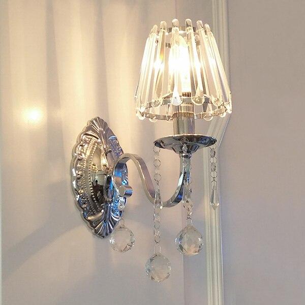 1/2 голов Настенные светильники лампы прикроватные светодио дный коридоре исследование персонализированные кристалл прозрачное стекло аба...