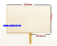 """wholesale"""" New 5-inch Touch screen for TomTom VIA 4EQ52 4EH52 4EN52 GPS Touch screen digitizer panel replacement Free shipping"""