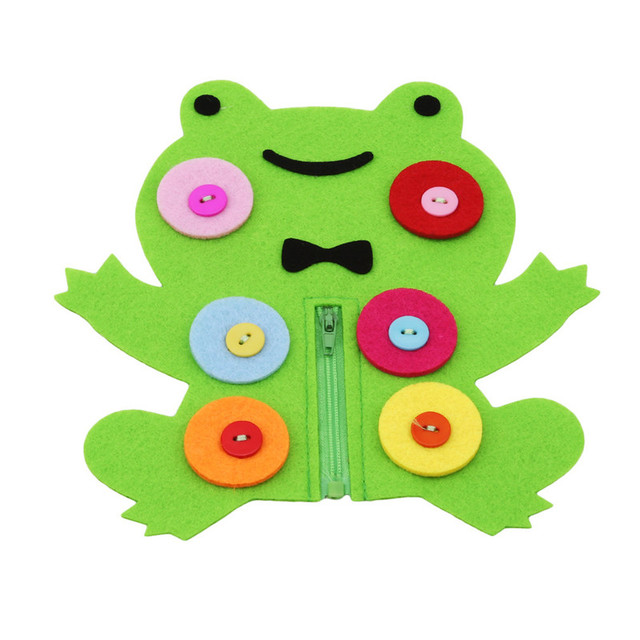 Botón de cremallera de enseñanza de Kindergarten manual Diy tejido tela educación temprana juguetes hechos a mano Montessori enseñanza de matemáticas Juguetes