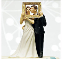Picture Perfect Couple Wedding Bride Groom Cake Topper
