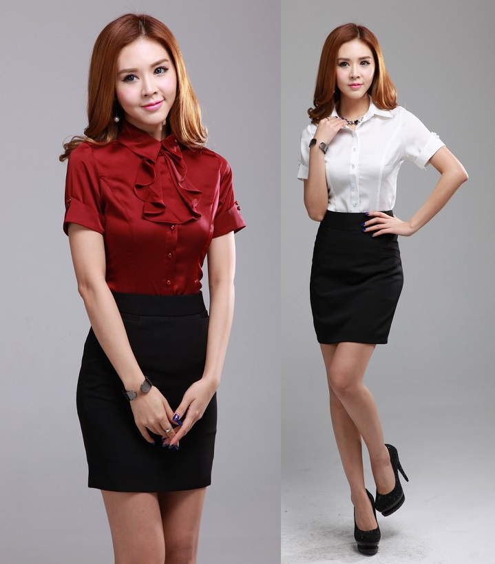 Online Get Cheap Women Business Suits Formal Office Shirts Work ...