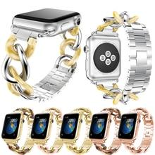 Купить с кэшбэком Fashion  Smart Watch Band for Apple Watch 42m/38mm Stainless Steel Smart Bracelet Luxury Watchband