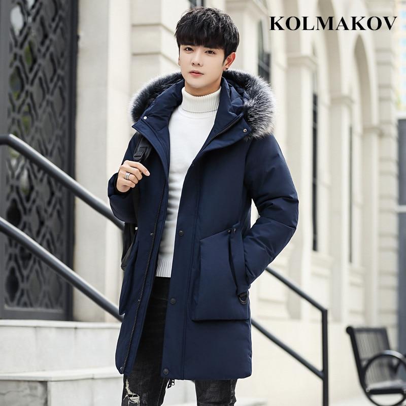 New Men's Duck   Down     Coats   2018 Winter Mens Duck   Down   Jackets Men Thick Snow Overcoats Masculino Plus Size M-4XL Outwear Men