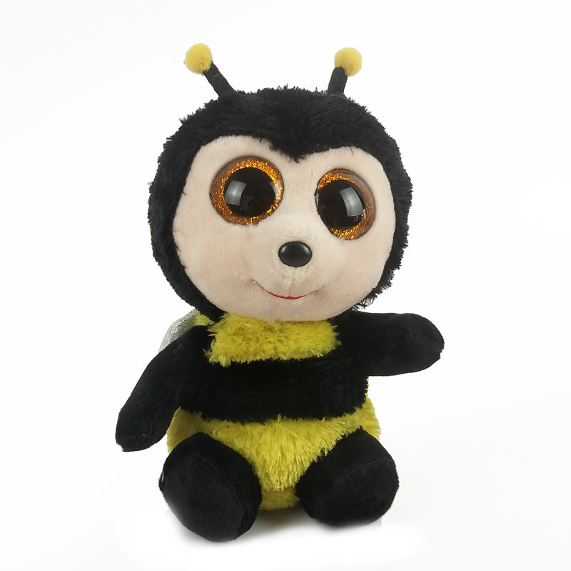 Ty Beanie Boos 6 15cm Buzby The Bumblebee With Wings Plush Regular