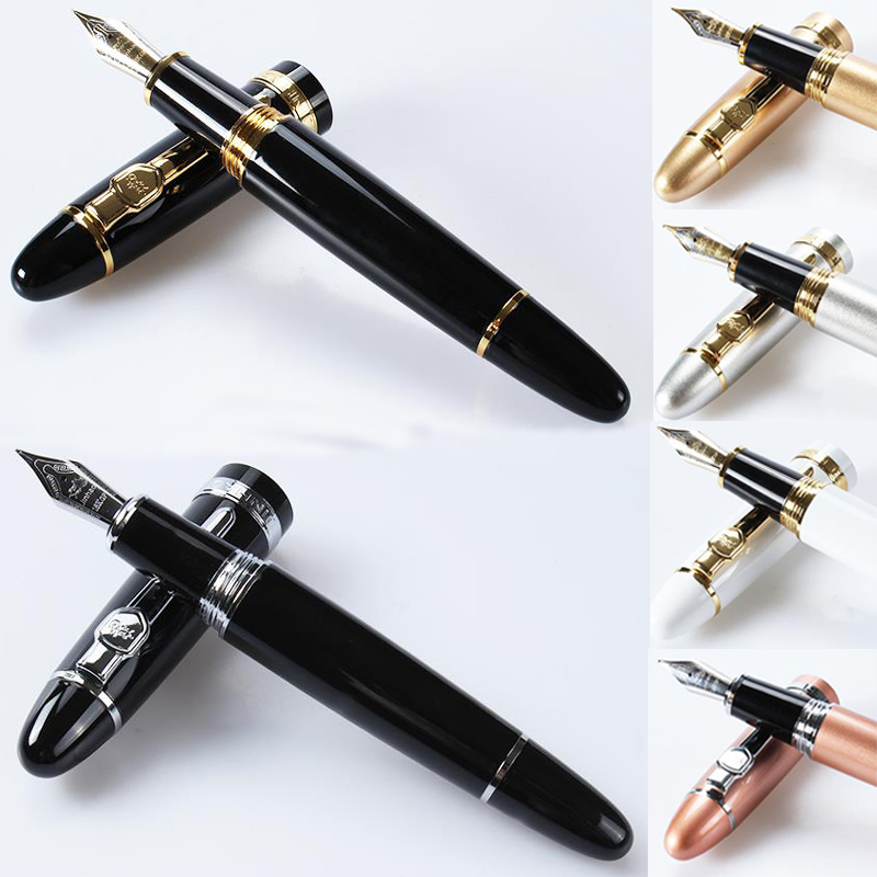 High Quality Jinhao x750 Penna stilografica luxury Fountain pen ink pen nib Stationery Iraurita 0.5mm caneta Stylo plume 03828 high quality luxury wood fountain pen iraurita ink pen 0 7mm nib caneta stationery office supplies with pen bag for gift gb43