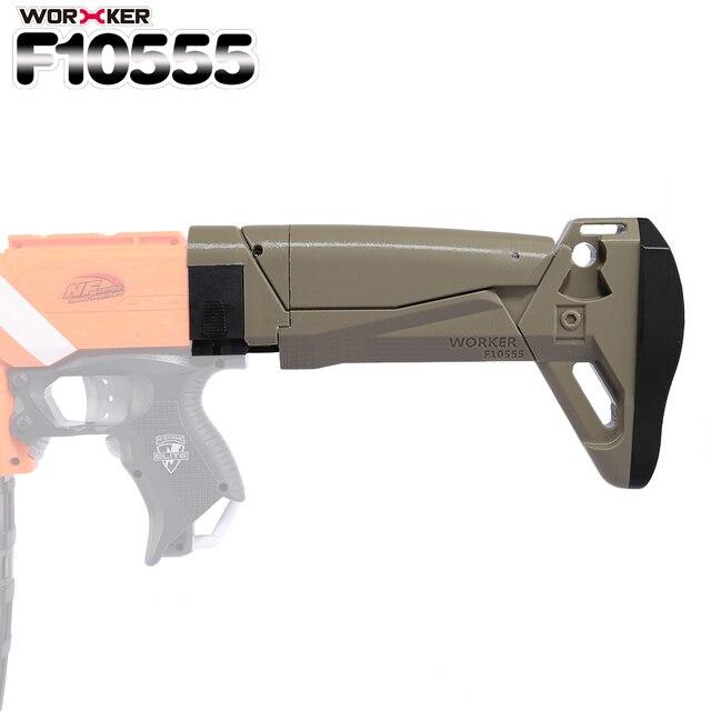 Worker f10555 3D Printing Foldable Shoulder Stock Tail Stock for Nerf  N-strike Elite Series