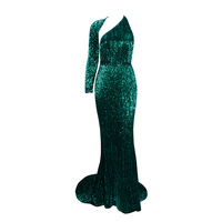2018 New Arrive Show Style Collection Elegant Green Sequin Chic Sparly Long Party Dress Cocktail Graceful Gown Vestido Wholesale