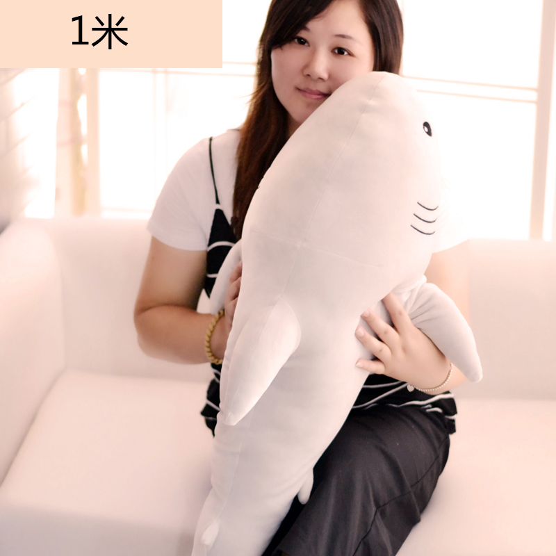 new plush soft shark toy big light gray shark doll gift about 100cm lovely giant panda about 70cm plush toy t shirt dress panda doll soft throw pillow christmas birthday gift x023