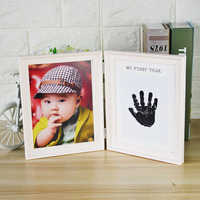 Creative Picture Frame Children S Hands And Feet Printed Photo Frame Set Baby Hand And Footprints