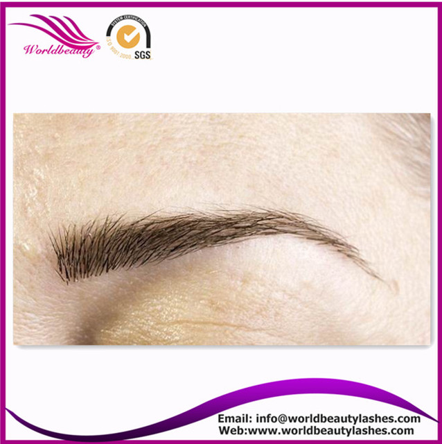 Free Shipping Wholesale Natural Silky Eyebrow 5trays Lot