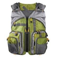 Men Outdoor Fishing Vest Breathable Swimming Life Jacket Waistcoat With Mutil-Pocket Colete Salva-Vidas