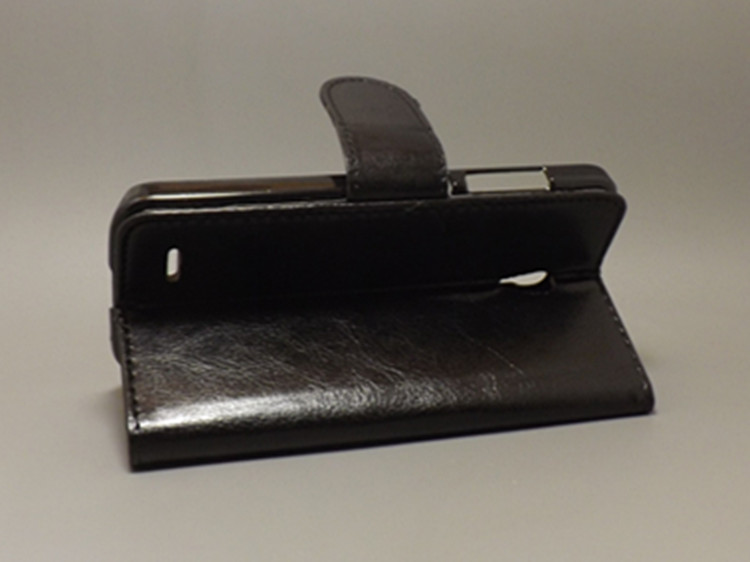 Crazy horse Flip leather case Credit Card Slots and stand function for <font><b>Alcatel</b></font> One Touch Pop 2 5