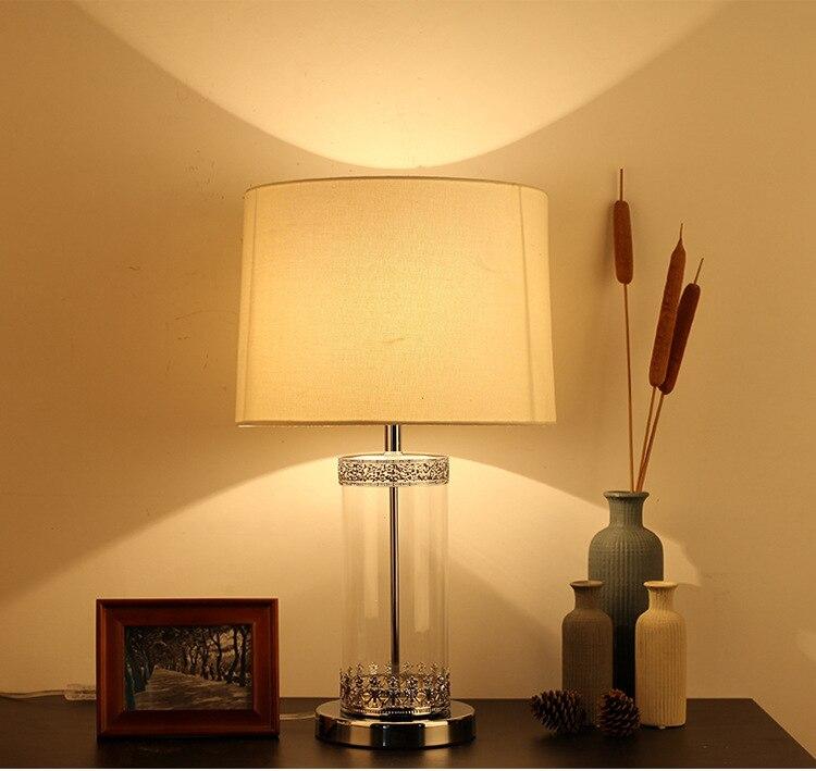 Туда 36X60 см Бесплатная доставка Nordic современный Стиль Стекло настольная лампа Применение для украшения Спальня прикроватной тумбочке Гост...