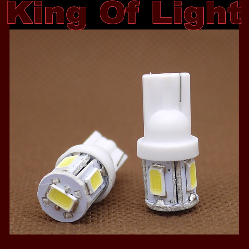 10x high quality led Car 194 W5W 5smd T10 5630 wedge 5 led smd Free shipping
