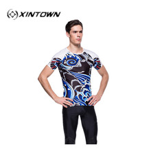 XINTOWN Marvel Comic cheap clothes china MTB Compression cycling skinsuit jerseys spider-man Fit Tight Gym Body building jerseys